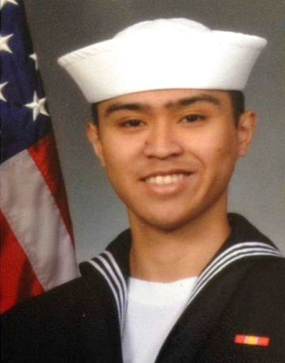 This updated photo released by the U.S. Navy, Monday, June 19, 2017, shows Fire Controlman 2nd Class Carlos Victor Ganzon Sibayan, 23, from Chula Vista, California. (U.S. Navy via AP)
