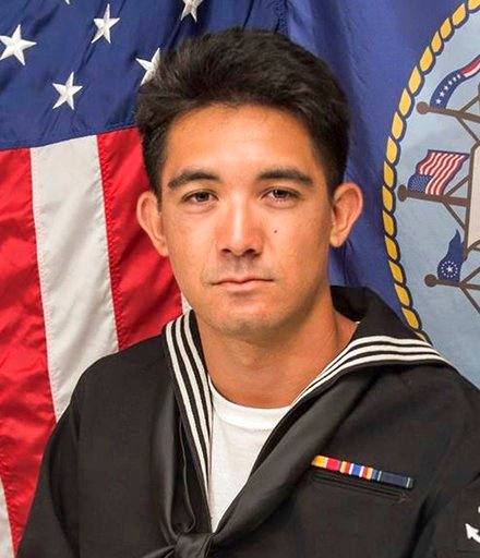This updated photo released by the U.S. Navy, Monday, June 19, 2017, shows Yeoman 3rd Class Shingo Alexander Douglass, 25, from San Diego, California. (U.S. Navy via AP)
