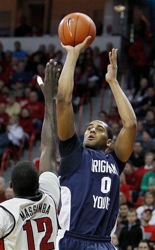 BYU forward Brandon Davies (0)