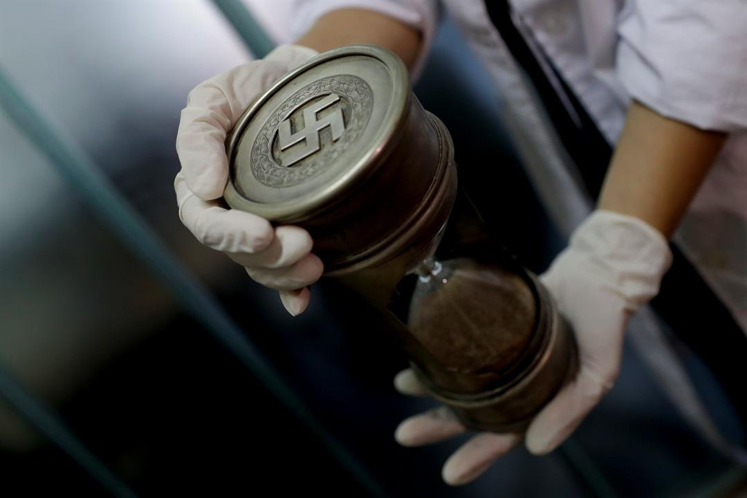Authorities say they suspect they are originals that belonged to high-ranking Nazis in Germany during World War II. (AP Photo/Natacha Pisarenko)