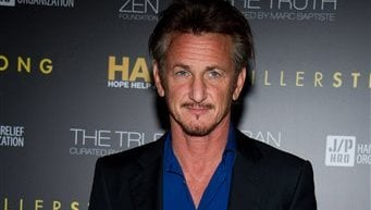 Sean Penn is honored at the Help Haiti benefit hosted by the Stiller Foundation and The J/P Haitian Relief Organization, in New York, Friday, Feb. 11, 2011. (AP Photo/Charles Sykes)