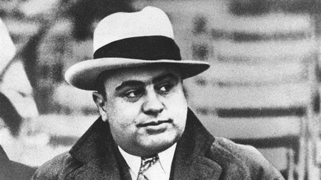 Chicago mobster Al Capone is seen at a football game in Chicago.