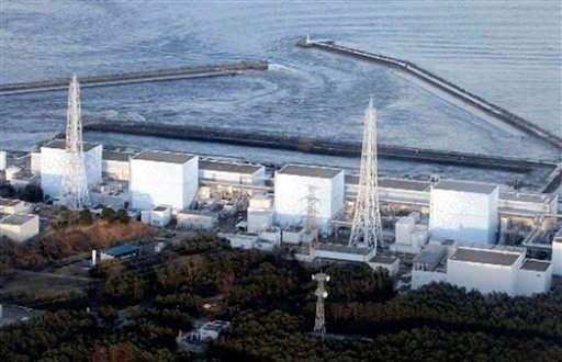Fukushima Daiichi power plant's Unit 1 is seen in Okumamachi, Fukushima prefecture, Japan, Friday, March 11, 2011. The nuclear power plant affected by a massive earthquake is facing a possible meltdown.