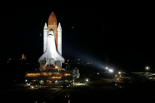 A space shuttle worker fell to his death Monday at the launch pad, the first fatality there in decades, NASA officials said.