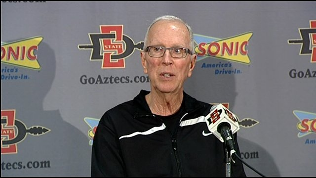 Aztec's coach Steve Fisher was asked at a news conference Monday about getting the monkey off the program's back.