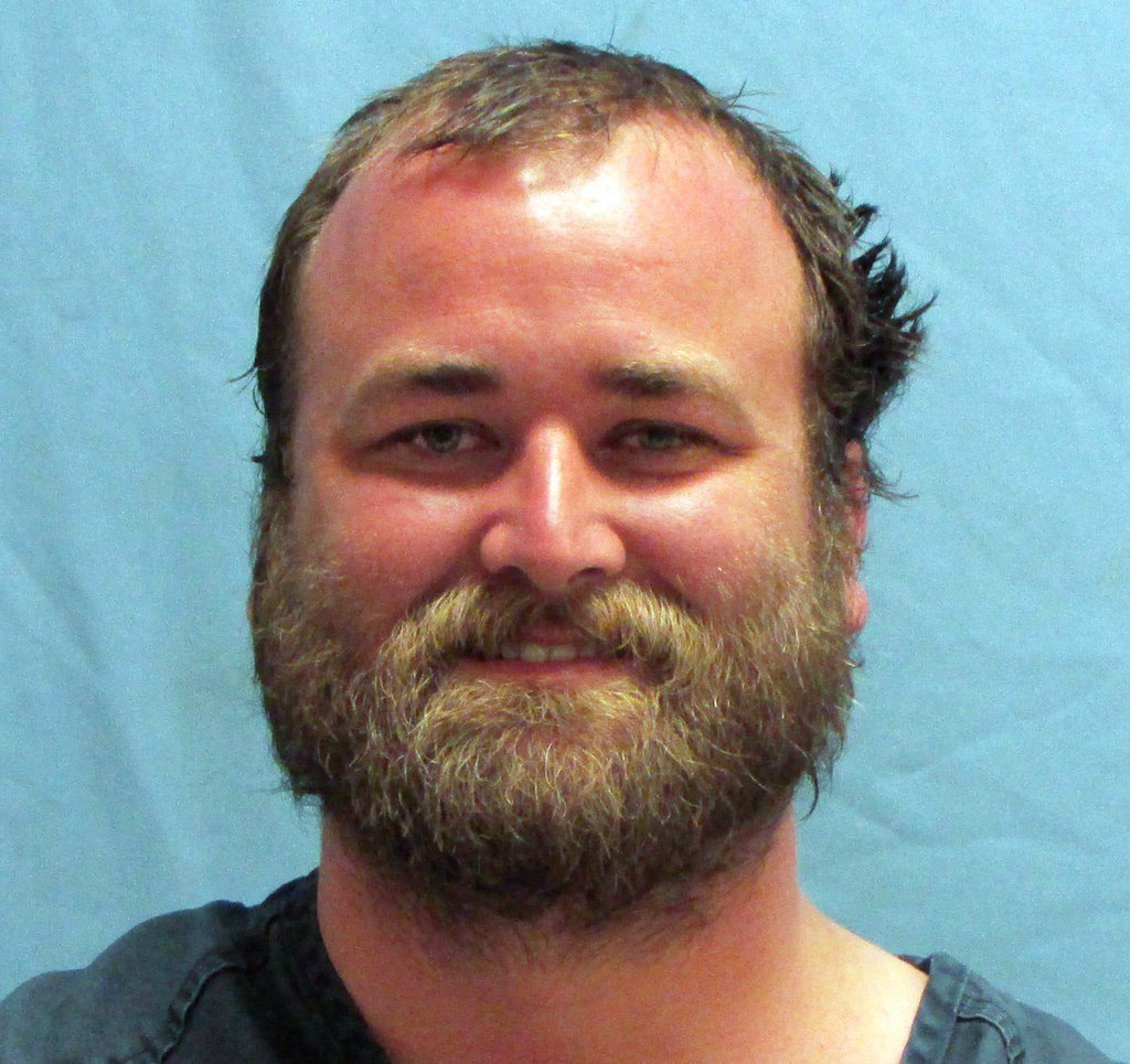 Michael Tate Reed, of Van Buren, Ark., who was booked into the jail Wednesday morning, June 28, 2017, on preliminary charges of defacing objects of public interest, criminal trespass and first-degree criminal mischief.