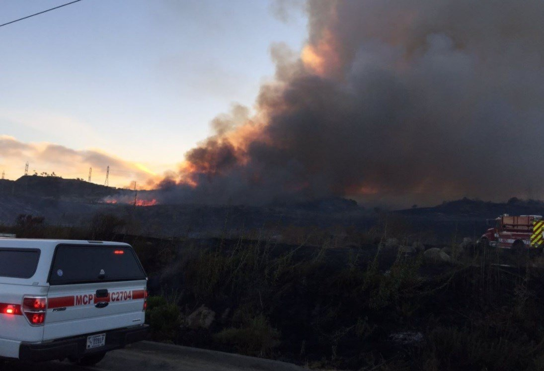 Cristianitos Fire at Camp Pendleton smothers Orange County in smoke