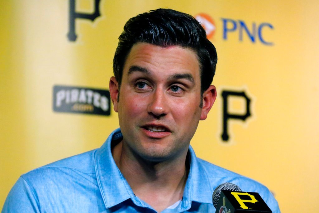 Major League umpire John Tumpane talks about a woman who hopped over a railing of the Roberto Clemente Bridge over the Allegheny River on Wednesday, June 28, 2017, in Pittsburgh.