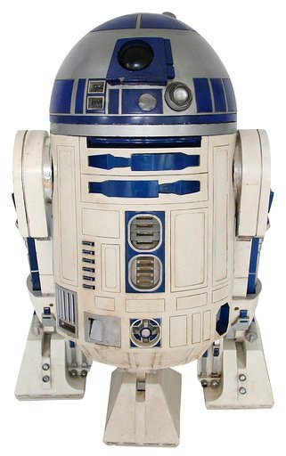 This 2017 photo provided by Profiles in History shows an R2-D2 droid pieced together over several years from different props used in the first five Star Wars movies.