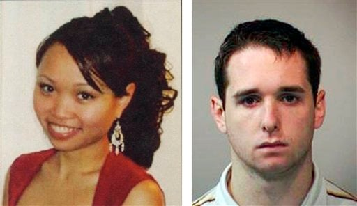 FILE - This combination of file photos released by New Haven officials shows Yale graduate student Annie Le, left, and Yale animal research technician Raymond Clark, III.