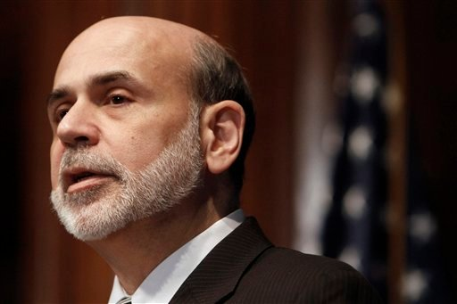 FILE - In this Feb. 3, 2011 file photo, Federal Reserve Chairman Ben Bernanke speaks at the National Press Club in Washington.