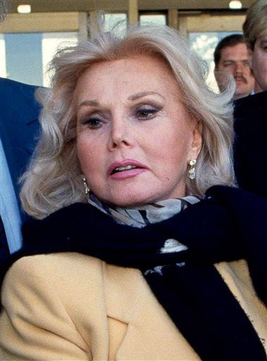 FILE - In this Jan. 27, 1993 file photo, actress Zsa Zsa Gabor is shown in Midland, Texas. Gabor's publicist says the shock of Elizabeth Taylor's death made Gabor fear she was next and sent her to the hospital with high blood pressure.