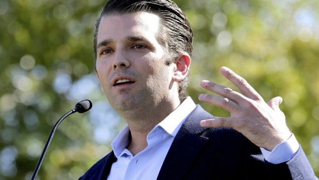 Donald Trump Jr. campaigns for his father Republican presidential candidate Donald Trump in Gilbert, Ariz.