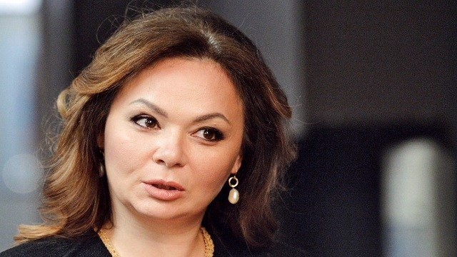 Kremlin-linked lawyer Natalia Veselnitskaya speaks to a journalist in Moscow, Russia.