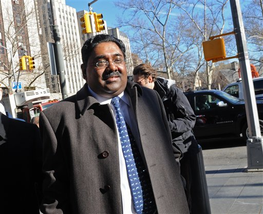 Galleon Group founder Raj Rajaratnam enters Manhattan federal court on the first day of jury selection, Tuesday, March 8, 2011, in New York.