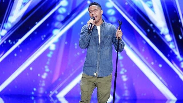 In this March 2017 photo provided by NBC, Brandon Rogers performs during America's Got Talent auditions in Pasadena, Calif. Rogers, a family physician from Portsmouth, Va., earned a standing ovation and a trip through to the next round of the NBC reality