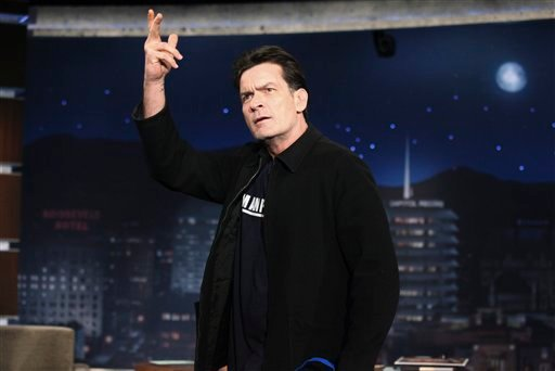 "In this publicity image released by ABC, actor Charlie Sheen is shown during an appearance on the late night talk show ""Jimmy Kimmel Live,"" Monday, March 21, 2011, in Los Angeles. (AP Photo/ABC, Richard Cartwright)"