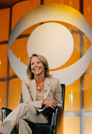 "In this July 16, 2006 file photo, Katie Couric, CBS News anchor and correspondent, answers questions about her upcoming season anchoring ""CBS Evening News with Katie Couric"" during a news conference in Pasadena, Calif."