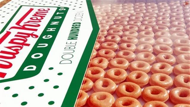 Friday only! $1 for dozen Krispy Kreme doughnuts