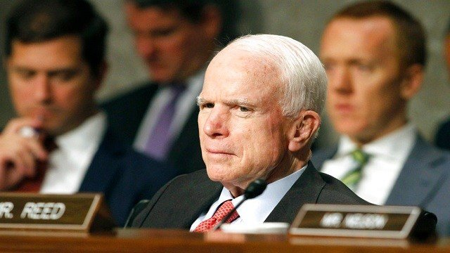 Senate Armed Services Committee Chairman Sen. John McCain, R-Ariz. listens on Capitol Hill in Washington.