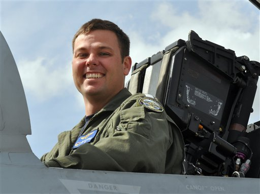 In this undated photo provided by the US Navy Lt. Matthew Ira Lowe is shown. Navy officials said Thursday that Lowe and Lt. Nathan Hollingsworth Williams died when the F/A-18F Super Hornet went down during a routine training flight.
