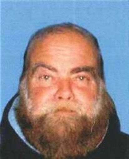 This undated booking photo provided by the Santa Monica Police Department shows Ron Hirsh, 60, who is wanted by the Santa Monica Police Department in connection with an explosion outside the Chabad House, a synagogue.