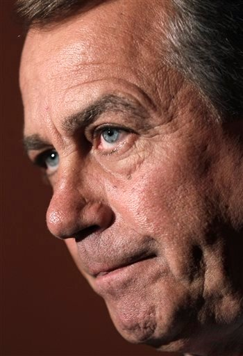 In this April 1, 2011, file photo House Speaker John Boehner of Ohio pauses during a news conference on Capitol Hill in Washington