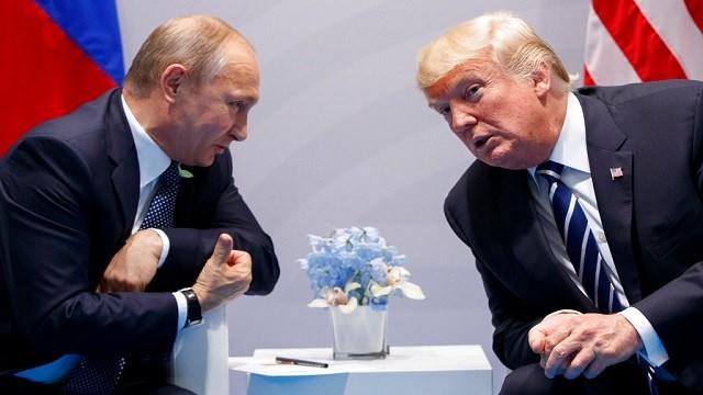 President Donald Trump meets with Russian President Vladimir Putin at the G20 Summit in Hamburg, Germany.