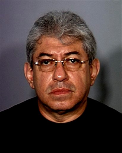 In this undated booking photo provided by the Las Vegas Metropolitan Police Department, Ruben Dario Matallana-Galvas, 55, from Medellin, Colombia.