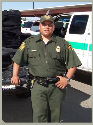 This undated file photo released by the U.S. Border Patrol on Jan. 24, 2008 shows agent Luis Aguilar.