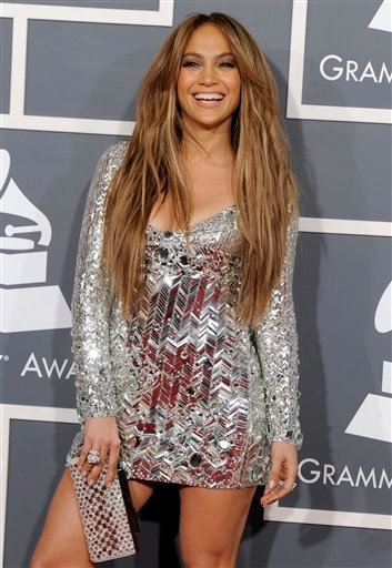FILE - In a Feb. 13, 2011 file photo, Jennifer Lopez arrives at the 53rd annual Grammy Awards, in Los Angeles. People magazine is naming Jennifer Lopez the World's Most Beautiful Woman.