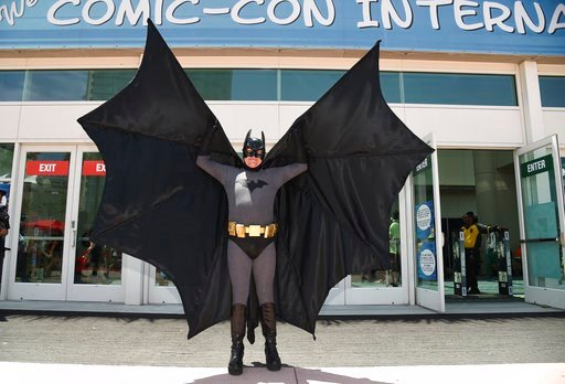 Howard Gemsler of Irvine, dresses as Batman on day one of Comic-Con International on Thursday, July 20, 2017, in San Diego. (Photo by Richard Shotwell/Invision/AP)