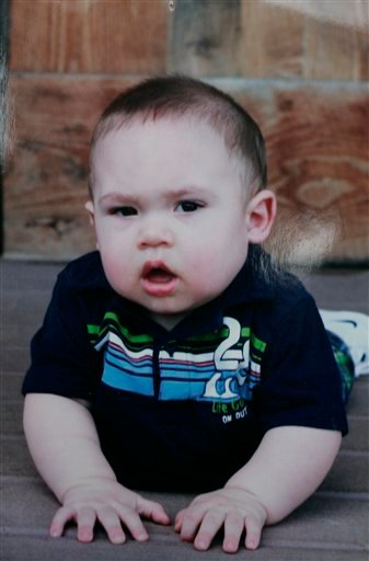 This undated photo provided by Joan Atwater shows 1-year-old Brady Atwater. Authorities say Alan Atwater killed Brady and two of his other children, along with his wife and himself inside a farmhouse Saturday, April 16, 2011, in Oak Harbor, Ohio.