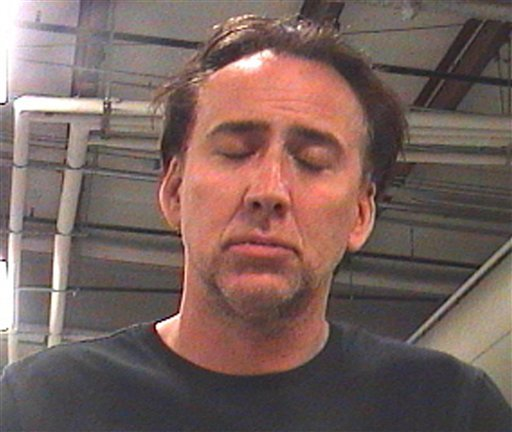 This booking photo released by Orleans Parish Sheriff's Office shows actor Nicolas Cage Saturday, April 16, 2011 in New Orleans.