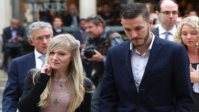 The parents Charlie Gard the critically ill infant Chris Gard and Connie Yates arrive at the Royal Courts of Justice in London.