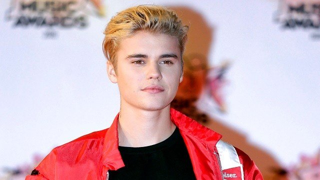 Justin Bieber arrives at the Cannes festival palace in Cannes, southeastern France.