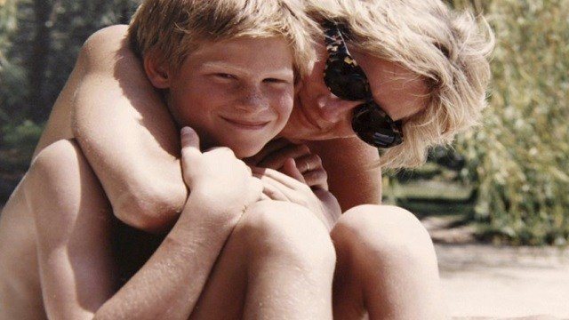 Kensington Palace from the personal photo album of the late Diana, Princess of Wales, shows the princess and Prince Harry on holiday.