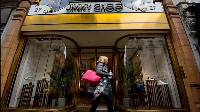 Jimmy Choo shop on New Bond Street, London.