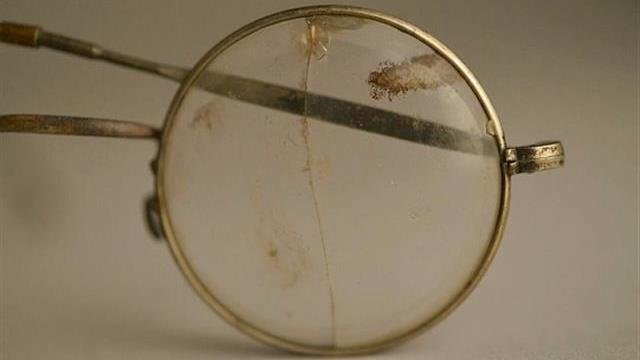 Aushwitz Museum on Wednesday, July 26, 2017 shows a pair of glasses that once belonged to a person who perished at the Nazi German death camp.