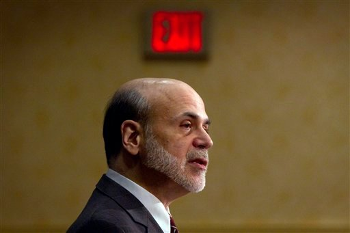 Federal Reserve Chairman Ben Bernanke addresses a financial markets conference meeting Monday, April 4, 2011, in Stone Mountain, Ga.