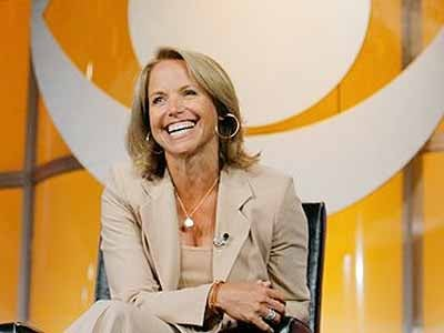 """FILE - In this July 16, 2006 file photo, Katie Couric, CBS News anchor and correspondent, answers questions about her upcoming season anchoring """"CBS Evening News with Katie Couric"""" during a news conference in Pasadena, Calif."""