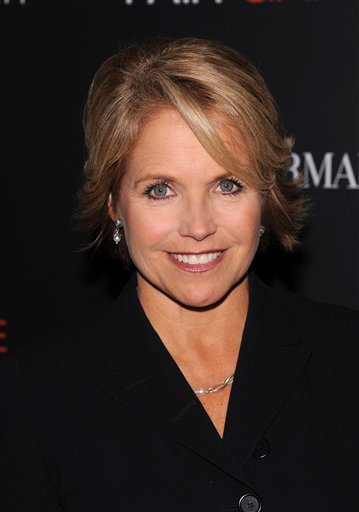 """FILE - In this Oct. 6, 2010 file photo, Katie Couric attends a Cinema Society screening of """"Fair Game"""" at the Museum of Modern Art, in New York. (AP Photo/Peter Kramer, file)"""