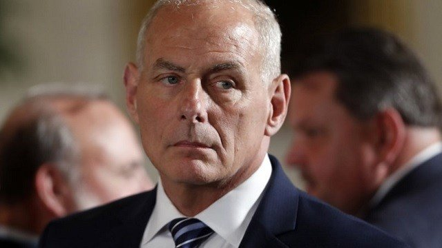 White House Chief of Staff John Kelly appears at event.