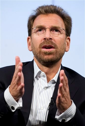 In this Sept. 17, 2007 file photo, Edgar Bronfman Jr., Chairman and CEO of Warner Music Group, discusses his company and the music industry at The Paley Center for Media in New York.