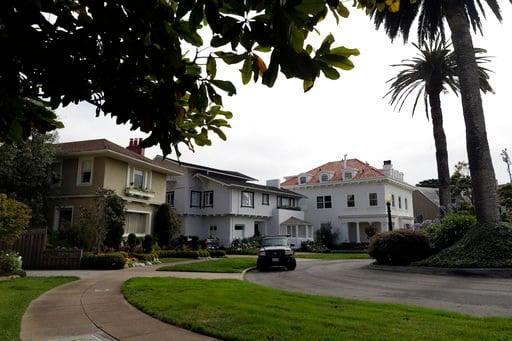 An overview of the Presidio Terrace neighborhood Monday, Aug. 7, 2017, in San Francisco.  (AP Photo/Marcio Jose Sanchez)