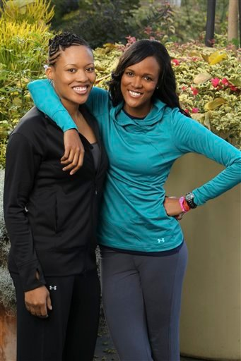 In this publicity image released by CBS, sisters Kisha Hoffman, left, and Jennifer Hoffman are shown in Los Angeles.