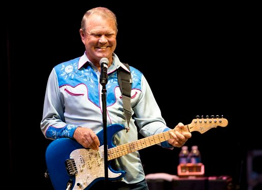 "Glen Campbell performs during ""The Goodbye Tour"" at the Koka Booth Amphitheatre in Cary, N.C., Saturday night, July 21, 2012.  (AP Photo/The News & Observer, Scott Sharpe)"