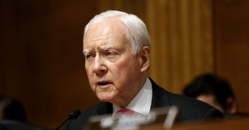Senate Judiciary Committee member Sen. Orrin Hatch, R-Utah, speaks on Capitol Hill in Washington.