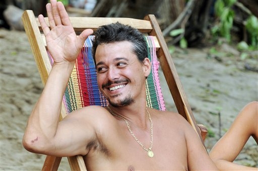 "In this undated publicity image released by CBS, contestant Rob Mariano is shown during the filming of the reality competition series ""Survivor: Redemption Island,"" in Nicaragua. Mariano, the CBS reality competition's tell-it-like-it-is veteran schemer."