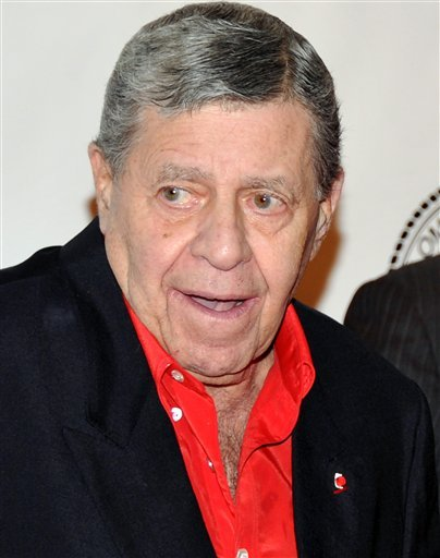 In this Dec. 1, 2010 file photo, Jerry Lewis attends the Quentin Tarantino Friars Club Roast at the New York Hilton Hotel in New York.